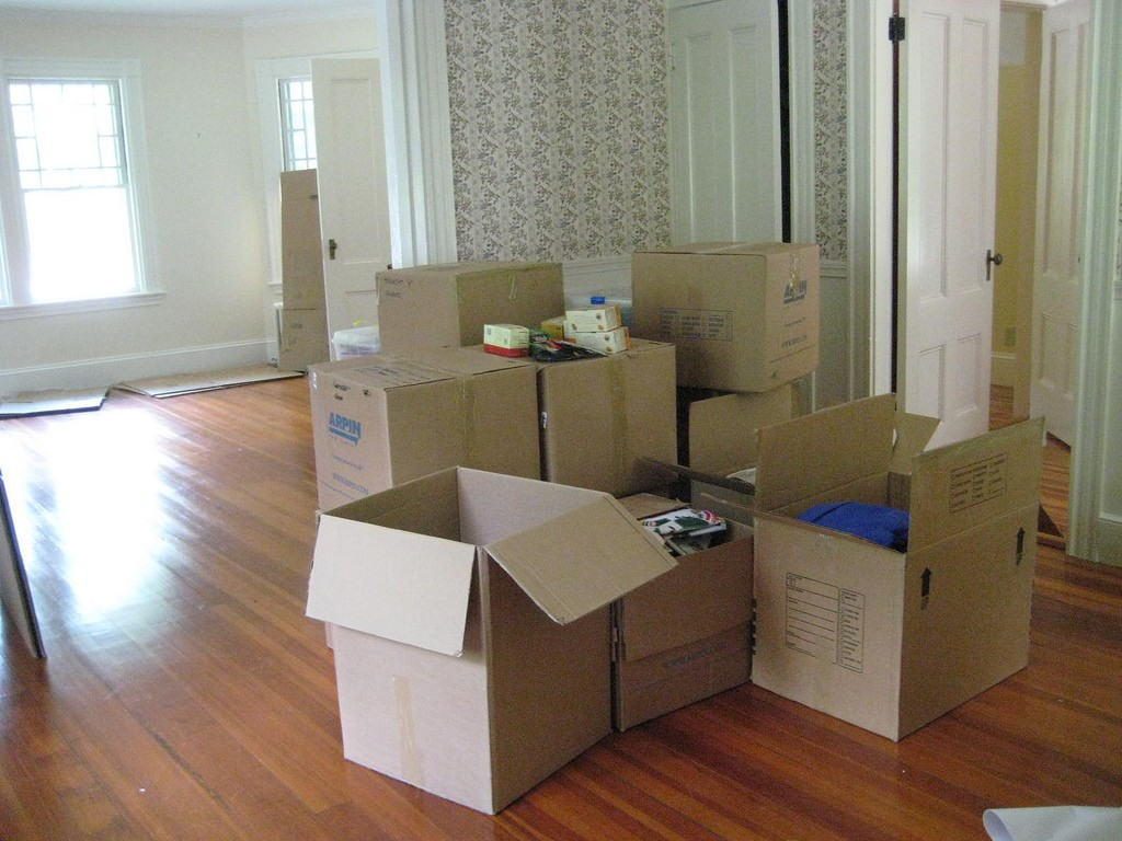 Putting everything in uniform boxes makes moving day much easier.